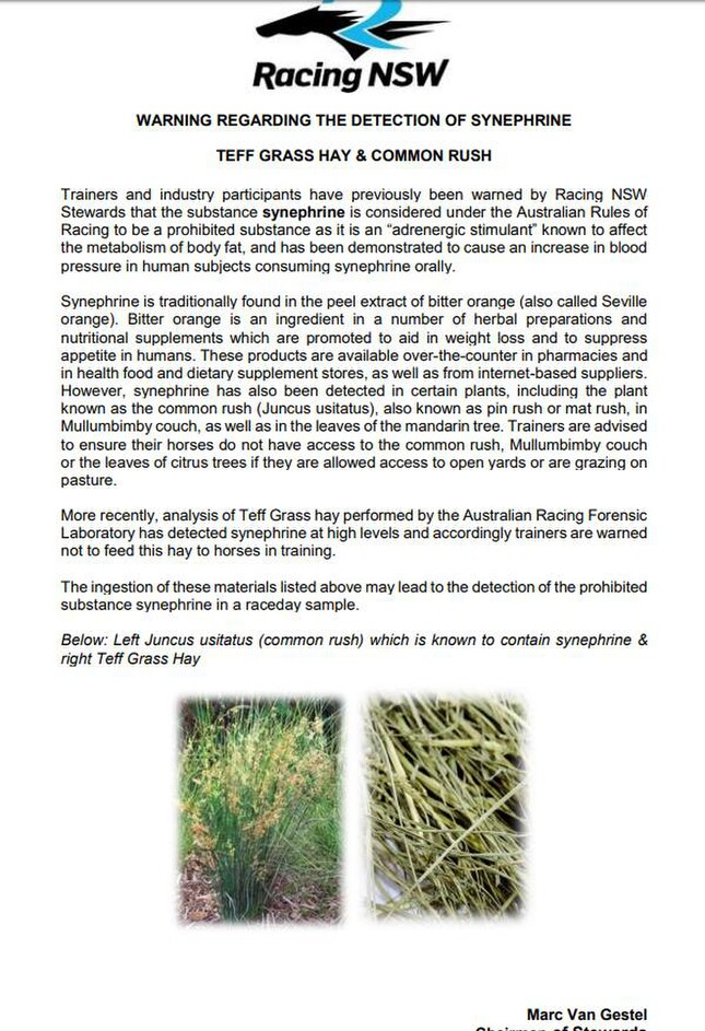 Animal Feed Solutions Teff Hay Warning Banned Substance